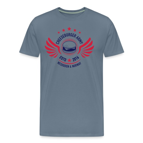 Cheeseburger Army U.S Colors - Premium T-skjorte for menn