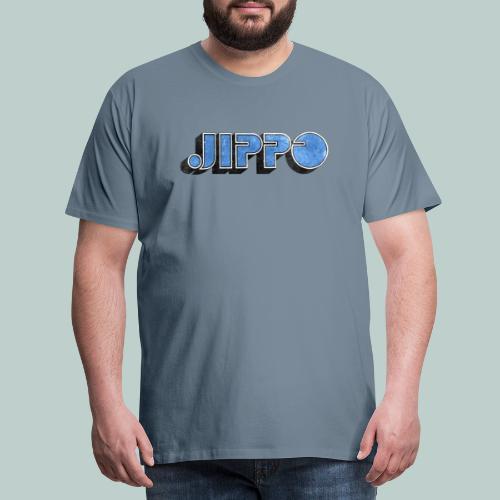 JIPPO LOGO (blue) - Miesten premium t-paita