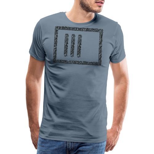 Wegzeichen 3 Min. warten - Stift - Schwarz - Männer Premium T-Shirt