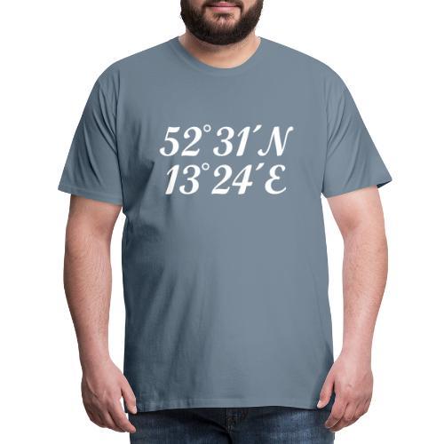 Berlin Koordinaten - Männer Premium T-Shirt