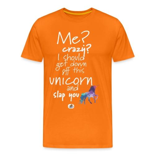 Crazy Unicorn - Light with picture - Men's Premium T-Shirt