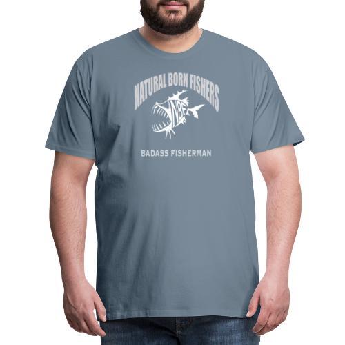 Badass fisherman - Miesten premium t-paita
