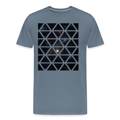 Dreiecke Weltraum - Männer Premium T-Shirt
