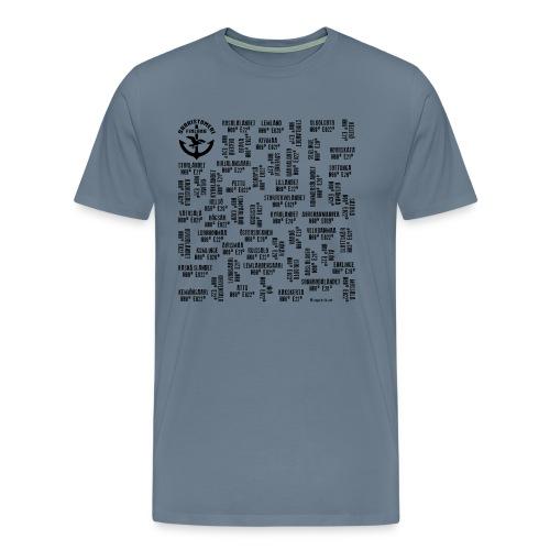SAARISTOMERI SAARET Merelliset tekstiilit, lahjat - Miesten premium t-paita