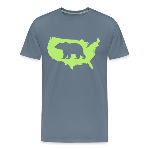USA Amerika America Grizzly Teddy Bär - Men's Premium T-Shirt