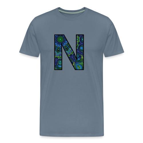 Letra N Mandala - Camiseta premium hombre