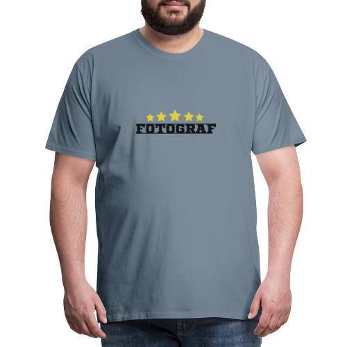 Wort Fotograf und fünf Sterne in gold - Männer Premium T-Shirt