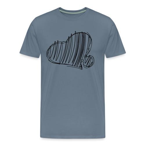 Hjertepuslebit II - Premium T-skjorte for menn