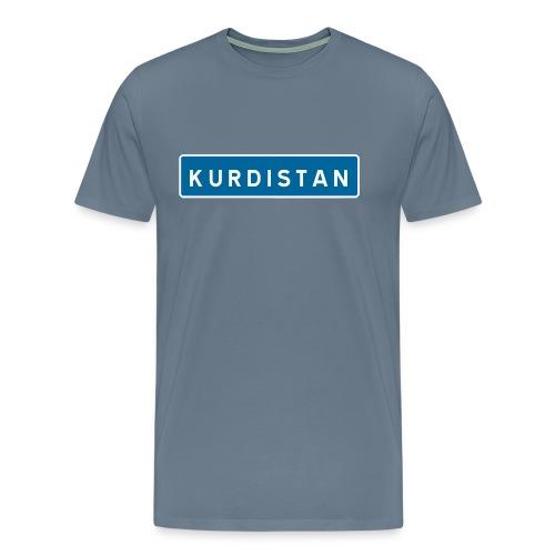 Kurdistanskylt - Premium-T-shirt herr