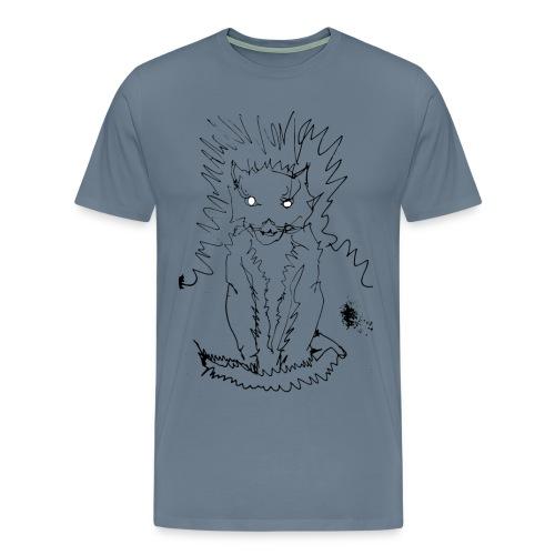 der graue Katzer - Männer Premium T-Shirt
