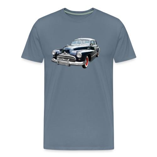 Classic Car. Buick zwart. - Mannen Premium T-shirt
