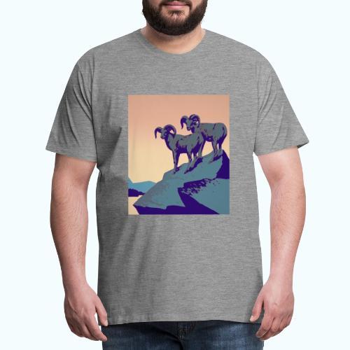 Vintage Capricorn Travel Poster - Men's Premium T-Shirt