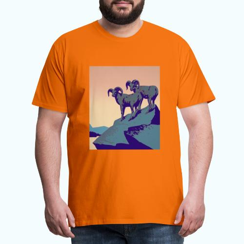 Vintage Capricorn Travel Poster - Men's Premium T-Shirt