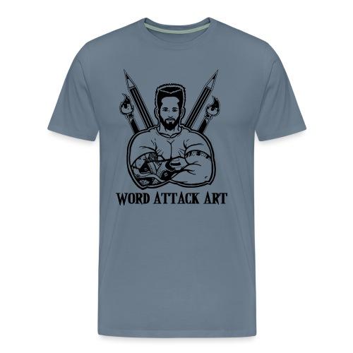 Word Attack Art - Männer Premium T-Shirt
