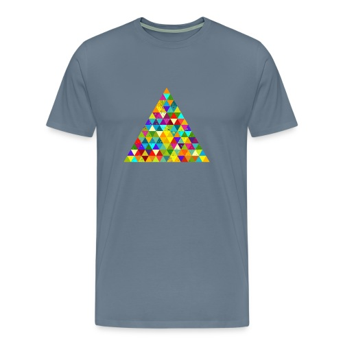 Dreieck Geek Hipster Ornament Grunge Regenbogen - Men's Premium T-Shirt