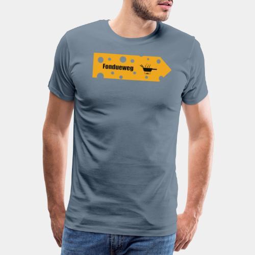 Fondueweg - Männer Premium T-Shirt