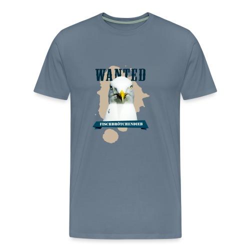WANTED - Fischbrötchendieb - Männer Premium T-Shirt