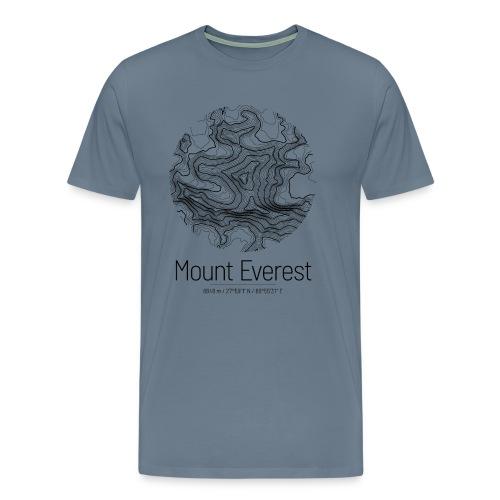 Mount Everest | Landkarte Topografie Design - Männer Premium T-Shirt