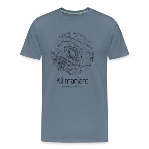 Kilimandscharo | Landkarte Topografie Design - Männer Premium T-Shirt