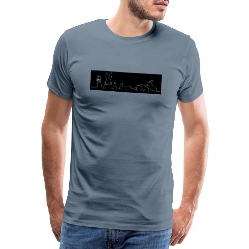 Kaninchenfamilie Print - Männer Premium T-Shirt