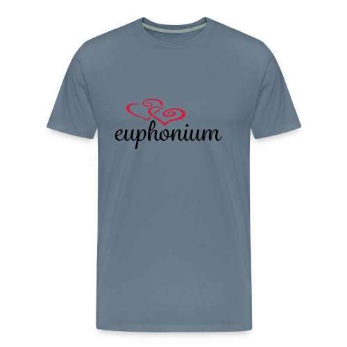 Euphonium Hearts - Premium T-skjorte for menn