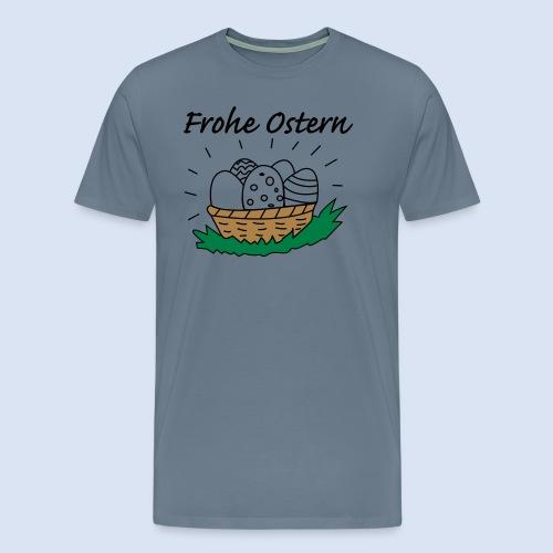 Eierkorb Oster Design - Frohe Ostern - Männer Premium T-Shirt
