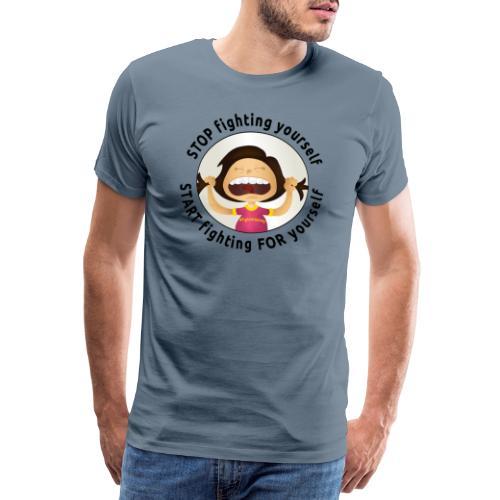Amy's motto (black txt) - Men's Premium T-Shirt