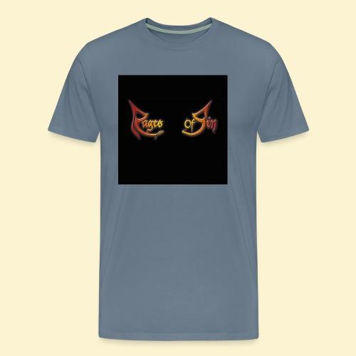 Logo flipflops - Mannen Premium T-shirt