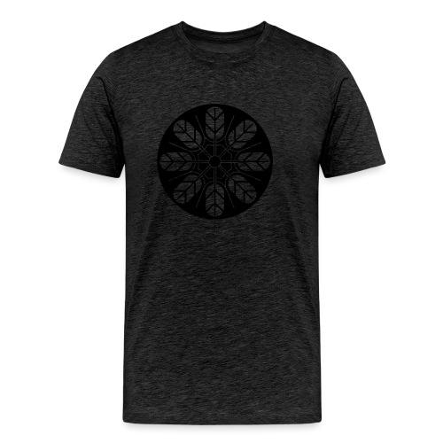 Inoue clan kamon in black - Men's Premium T-Shirt