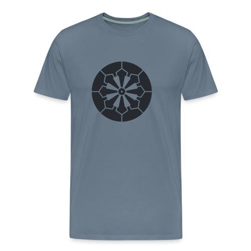 Sanja Matsuri Komagata mon dark grey - Men's Premium T-Shirt