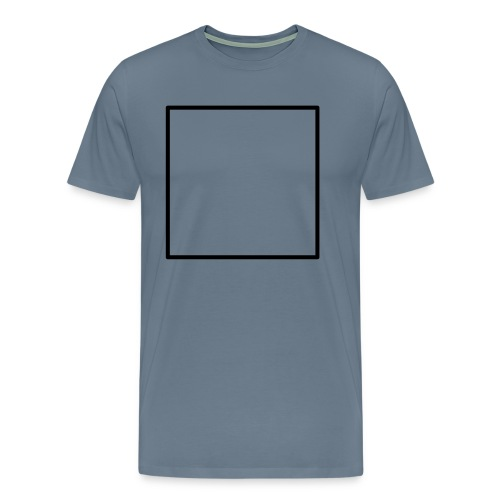 Square t shirt black - Mannen Premium T-shirt