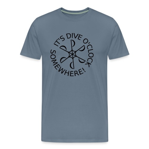 Dive o clock Black - Men's Premium T-Shirt