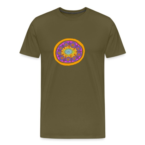 Mandala Pizza - Men's Premium T-Shirt