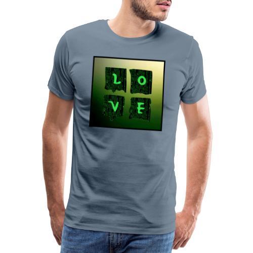 LOVE Matrix - Männer Premium T-Shirt