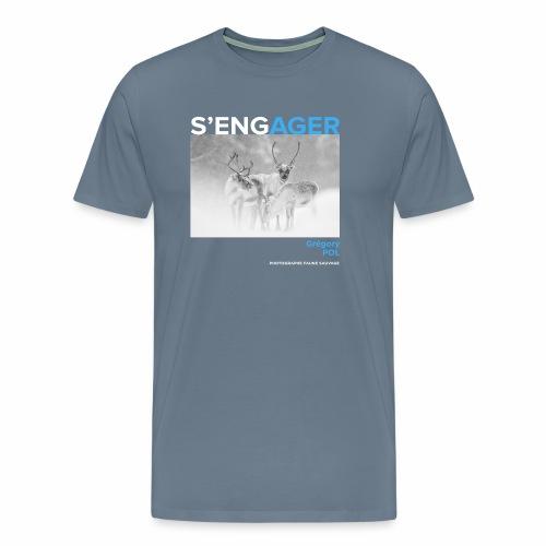 1 Achat = 1 Don au Centre de soin LPO Aquitaine - T-shirt Premium Homme