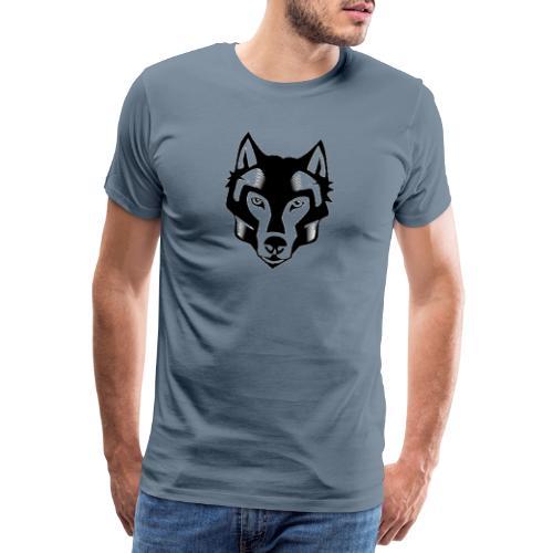 loup tete - T-shirt Premium Homme