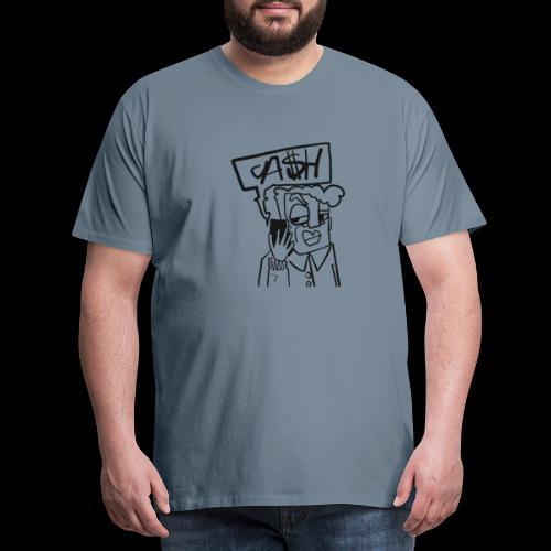 Cash on the phone - Mannen Premium T-shirt