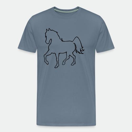 Proud Horse Outline - Men's Premium T-Shirt