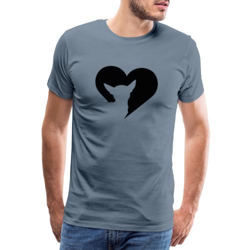 Chihuahua hart - Mannen Premium T-shirt