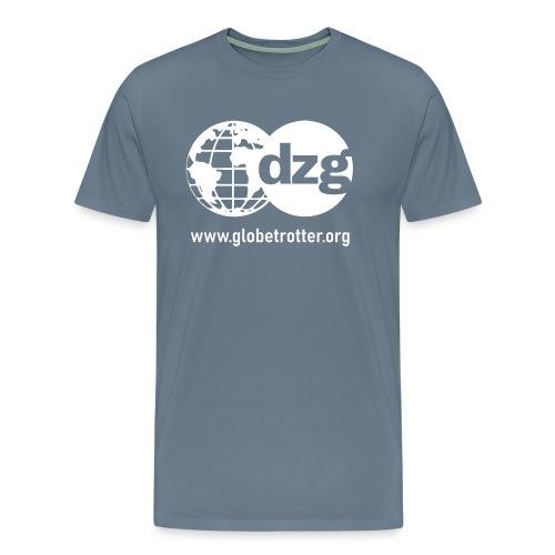 dzg logo Text white - Männer Premium T-Shirt