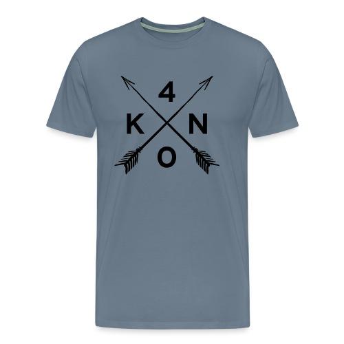 Logo_40knots_weiß - Männer Premium T-Shirt