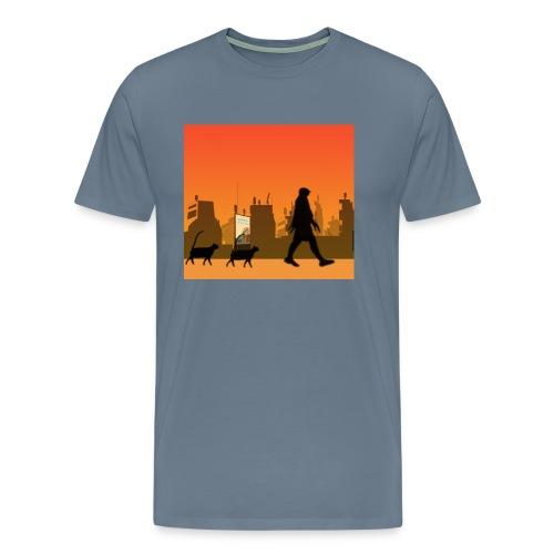 Gaturbe-Ciudad - Camiseta premium hombre