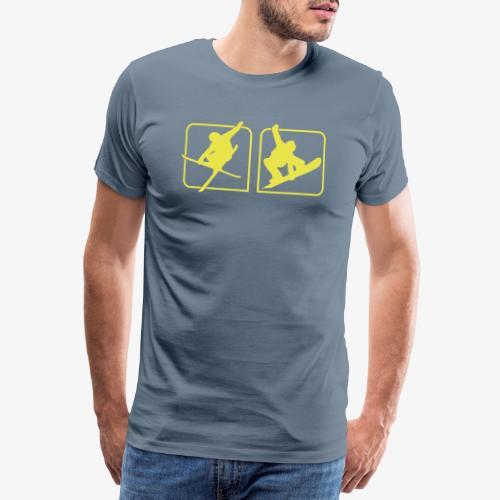 Ski und Snowboard Freestyle - Männer Premium T-Shirt