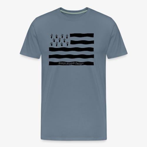 Gwenn ha Du-Noir fond transparent - T-shirt Premium Homme