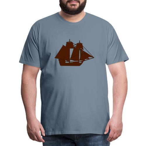 brown ship 3 - Men's Premium T-Shirt