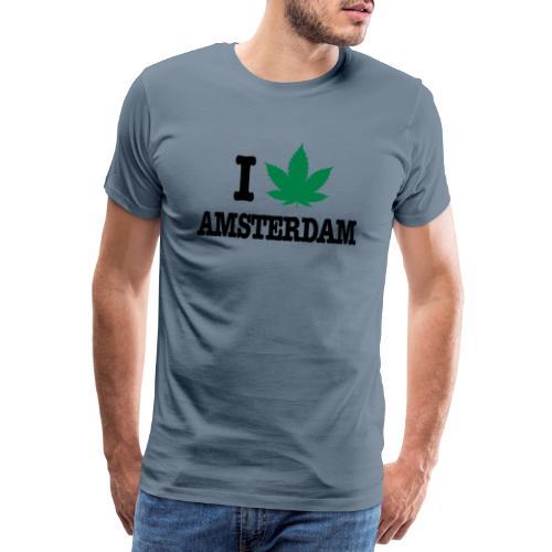 I CANNABIS AMSTERDAM - Männer Premium T-Shirt