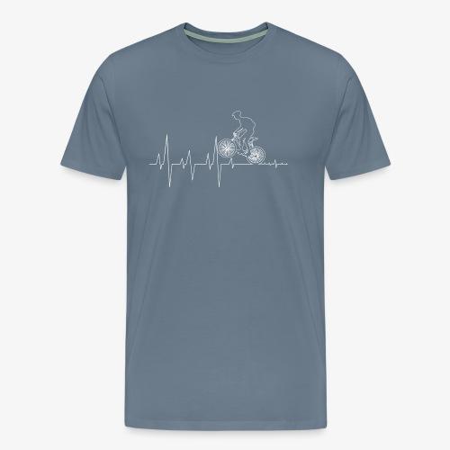 Bicycle cyclist Heartbeat - Men's Premium T-Shirt