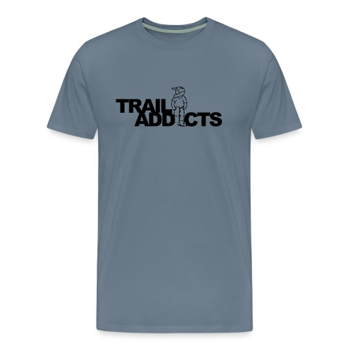 Trail addicts logo tshirt png - Mannen Premium T-shirt