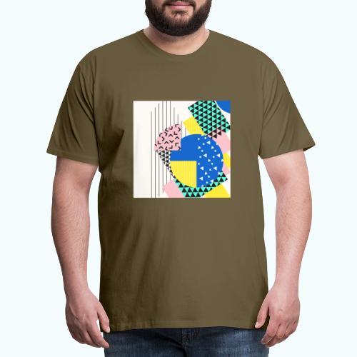 Retro Vintage Shapes Abstract - Men's Premium T-Shirt