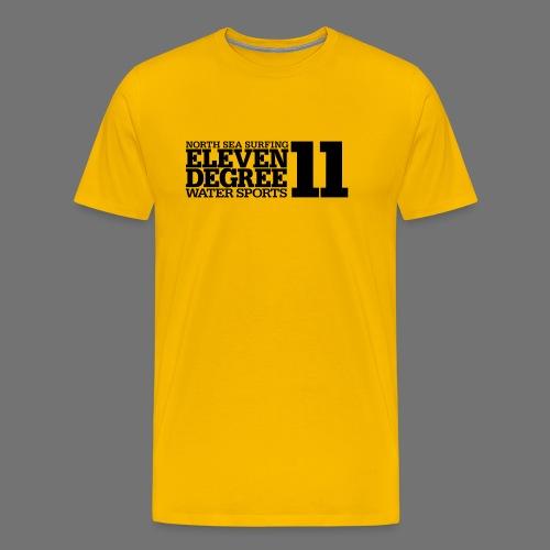 Surfing - eleven degree watersports (black) - Men's Premium T-Shirt